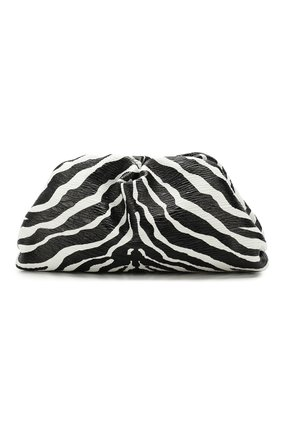 Женский клатч pouch BOTTEGA VENETA черно-белого цвета, арт. 576227/VCRT1 | Фото 1