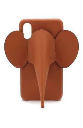 Мужской чехол для iphone x/xs LOEWE коричневого цвета, арт. 103.30AB05 | Фото 1