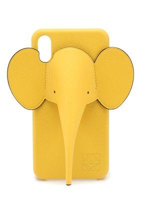 Мужской чехол для iphone x/xs max LOEWE желтого цвета, арт. 103.30AB06 | Фото 1