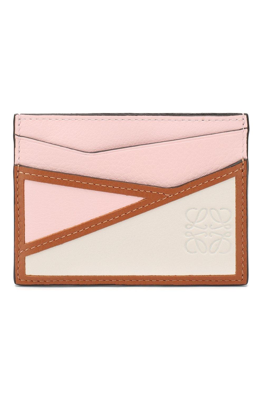 Женский кожаный футляр для кредитных карт LOEWE светло-розового цвета, арт. 122N30XV33 | Фото 1
