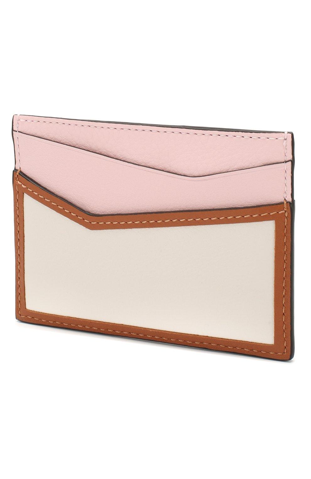 Женский кожаный футляр для кредитных карт LOEWE светло-розового цвета, арт. 122N30XV33 | Фото 2