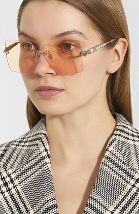 Мужские солнцезащитные очки GUCCI розового цвета, арт. 610402/I3330   Фото 2