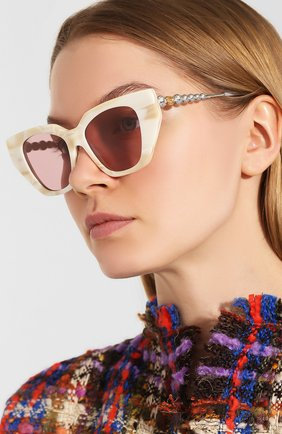 Мужские солнцезащитные очки GUCCI розового цвета, арт. 610397/J0770   Фото 2