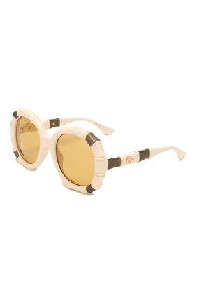 Мужские солнцезащитные очки GUCCI кремвого цвета, арт. 610371/J1691   Фото 1