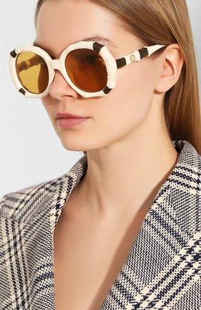 Мужские солнцезащитные очки GUCCI кремвого цвета, арт. 610371/J1691   Фото 2