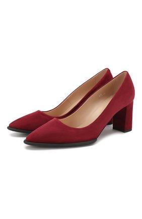 Женская замшевые туфли TOD'S бордового цвета, арт. XXW30A0S330HR0 | Фото 1