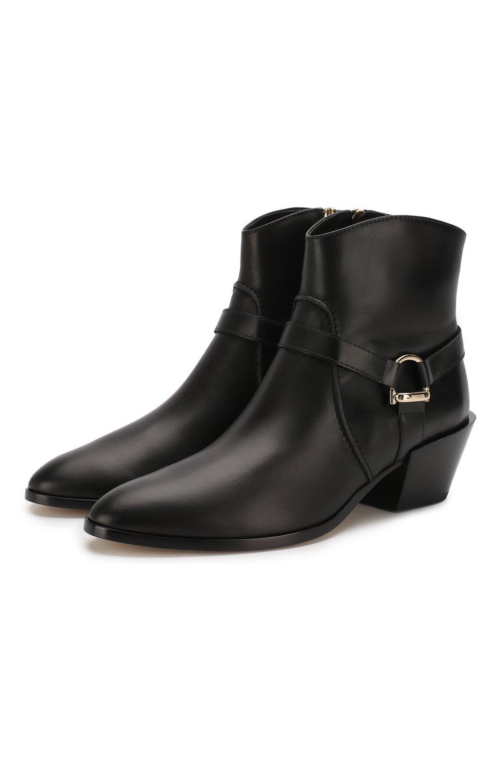 Женские кожаные ботинки TOD'S черного цвета, арт. XXW94A0CV10G0C | Фото 1