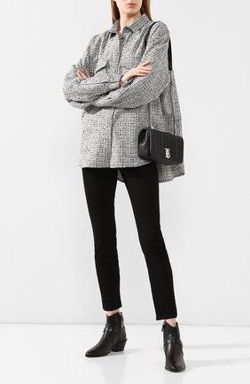 Женские кожаные ботинки TOD'S черного цвета, арт. XXW94A0CV10G0C | Фото 2
