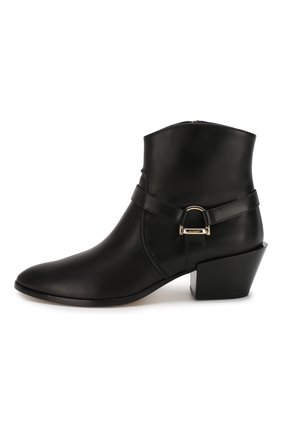 Женские кожаные ботинки TOD'S черного цвета, арт. XXW94A0CV10G0C | Фото 3