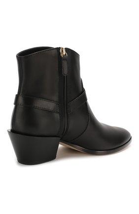 Женские кожаные ботинки TOD'S черного цвета, арт. XXW94A0CV10G0C | Фото 4