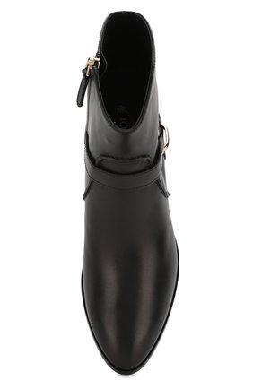Женские кожаные ботинки TOD'S черного цвета, арт. XXW94A0CV10G0C | Фото 5