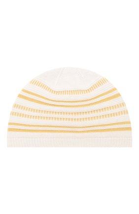 Детского шапка LORO PIANA желтого цвета, арт. FAI9476 | Фото 1
