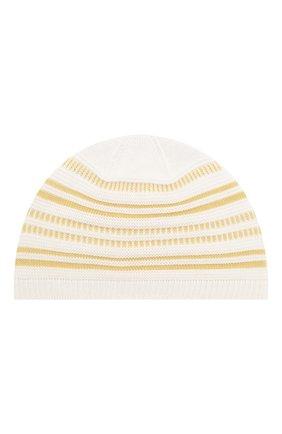 Детского шапка LORO PIANA желтого цвета, арт. FAI9476 | Фото 2