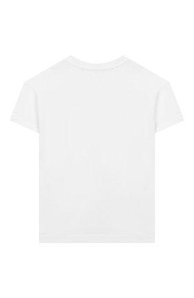 Детская хлопковая футболка SONIA RYKIEL ENFANT белого цвета, арт. 20S1TS35 | Фото 2