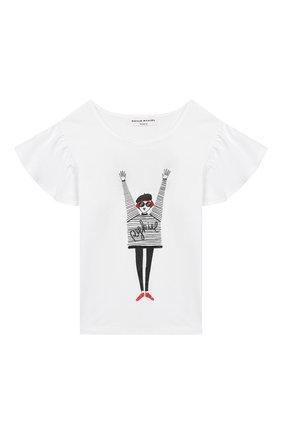 Детская футболка SONIA RYKIEL ENFANT белого цвета, арт. 20S1TS23 | Фото 1