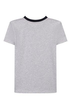 Детская хлопковая футболка LA PERLA серого цвета, арт. 67364/8A-14A | Фото 2