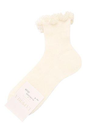 Детские хлопковые носки LA PERLA бежевого цвета, арт. 43455/23-28 | Фото 1