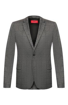 Мужской пиджак HUGO светло-серого цвета, арт. 50424807 | Фото 1