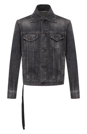 Мужская джинсовая куртка BEN TAVERNITI UNRAVEL PROJECT черного цвета, арт. UMYE010S20DEN0031010 | Фото 1