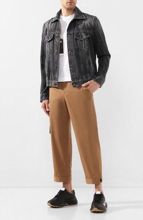 Мужская джинсовая куртка BEN TAVERNITI UNRAVEL PROJECT черного цвета, арт. UMYE010S20DEN0031010 | Фото 2