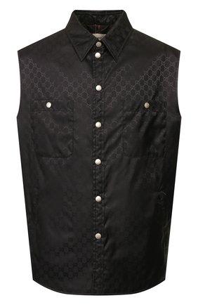 Мужской жилет GUCCI черного цвета, арт. 590785/Z4039 | Фото 1