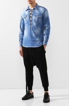 Мужская джинсовая рубашка DSQUARED2 синего цвета, арт. S71DM0366/S30341 | Фото 2