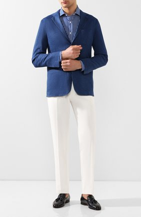 Мужская льняная рубашка RALPH LAUREN синего цвета, арт. 790791906 | Фото 2