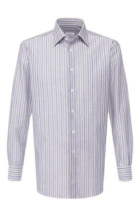 Мужская сорочка из смеси хлопка и льна BRIONI серого цвета, арт. RCLU0U/P907Y | Фото 1