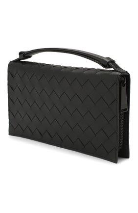 Мужской кожаное портмоне BOTTEGA VENETA черного цвета, арт. 607471/VCPQ3 | Фото 2