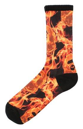 Мужские носки BAPE оранжевого цвета, арт. 1G30183002 | Фото 1