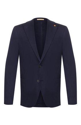 Мужской хлопковый пиджак SARTORIA LATORRE темно-синего цвета, арт. JF74 JE2021 | Фото 1
