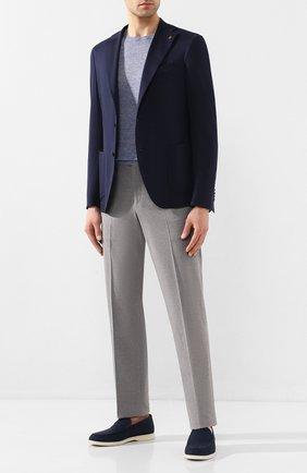 Мужской хлопковый пиджак SARTORIA LATORRE темно-синего цвета, арт. JF74 JE2021 | Фото 2