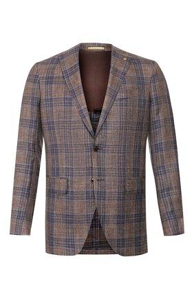 Мужской пиджак из смеси шерсти и шелка SARTORIA LATORRE коричневого цвета, арт. G0I7EM Q70657 | Фото 1