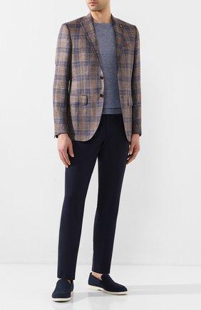 Мужской пиджак из смеси шерсти и шелка SARTORIA LATORRE коричневого цвета, арт. G0I7EM Q70657 | Фото 2