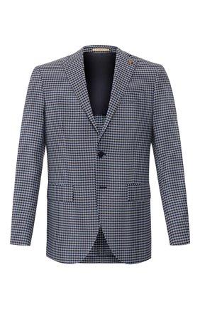Мужской шерстяной пиджак SARTORIA LATORRE синего цвета, арт. G0I7EM Q70554 | Фото 1
