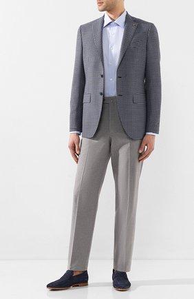 Мужской шерстяной пиджак SARTORIA LATORRE синего цвета, арт. G0I7EM Q70554 | Фото 2