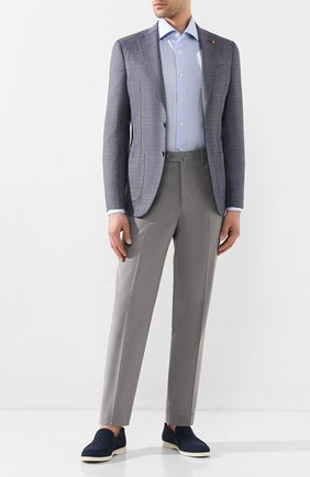 Мужской шерстяной пиджак SARTORIA LATORRE синего цвета, арт. EF74 U70254 | Фото 2