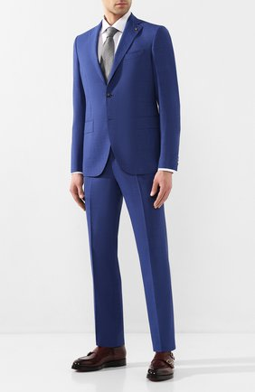 Мужской шерстяной костюм SARTORIA LATORRE синего цвета, арт. A6I7EF U70906 | Фото 1