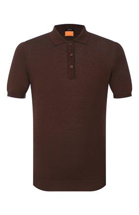 Мужское хлопковое поло SVEVO коричневого цвета, арт. 8277/SE20/MP0002   Фото 1