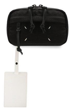 Мужская текстильная поясная сумка MAISON MARGIELA черного цвета, арт. S55WB0014/PR253 | Фото 1