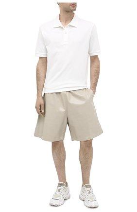 Мужские кожаные шорты BOTTEGA VENETA бежевого цвета, арт. 617342/VKLC0 | Фото 2