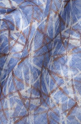 Мужской льняной шарф CORNELIANI синего цвета, арт. 85B343-0129046/00 | Фото 2