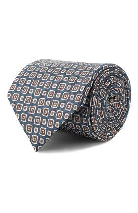 Мужской шелковый галстук CORNELIANI синего цвета, арт. 85U302-0120347/00 | Фото 1