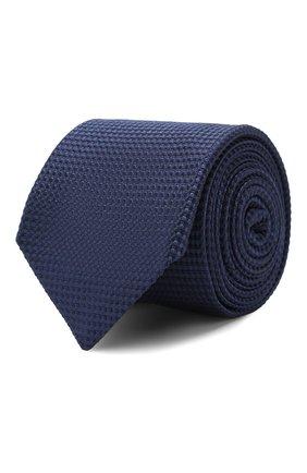 Мужской шелковый галстук CORNELIANI темно-синего цвета, арт. 85U306-0120303/00 | Фото 1
