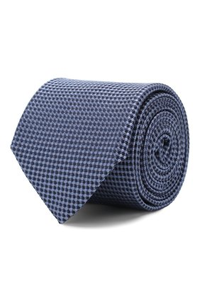 Мужской шелковый галстук CORNELIANI синего цвета, арт. 85U306-0120303/00 | Фото 1