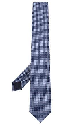 Мужской шелковый галстук CORNELIANI синего цвета, арт. 85U306-0120303/00 | Фото 2