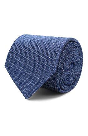 Мужской шелковый галстук CORNELIANI синего цвета, арт. 85U306-0120311/00 | Фото 1