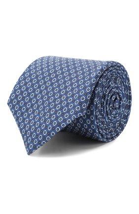 Мужской шелковый галстук CORNELIANI синего цвета, арт. 85U306-0120340/00 | Фото 1