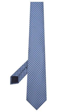 Мужской шелковый галстук CORNELIANI синего цвета, арт. 85U306-0120340/00 | Фото 2