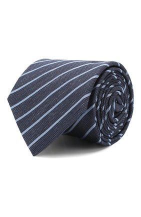 Мужской шелковый галстук CORNELIANI темно-синего цвета, арт. 85U306-0120377/00 | Фото 1